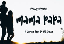 Шрифт Mama Papa Латиница