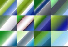 Набор градиентов «Синее и зелёное»