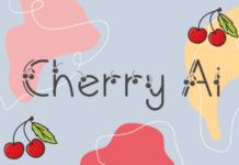 Шрифт Cherry Ai Латиница