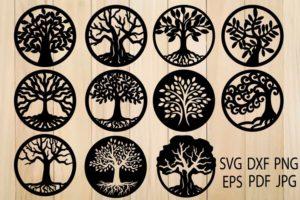 Клипарт «Деревья и объекты»