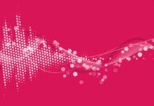 Фон «Розовая техноволна»