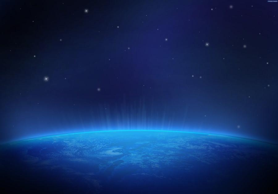 Фон «Планета и космос»