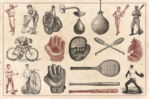 Клипарт «Спорт и винтаж»