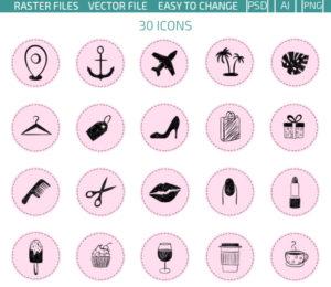 196 иконок для социальных сетей