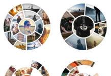 31 шаблон дизайнерских фоторамок для памятных моментов
