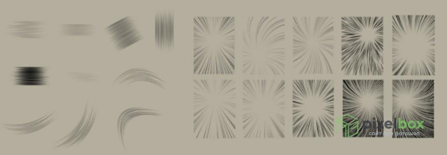 130 разнообразных кистей для манги и Photoshop