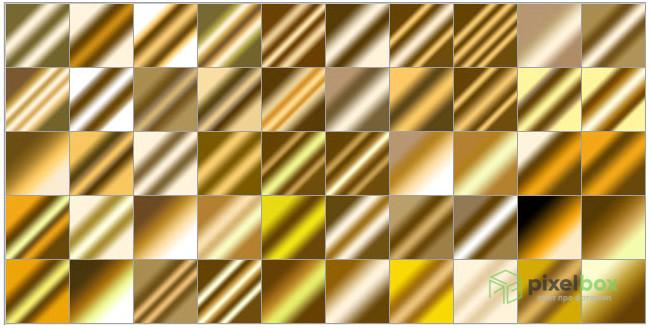 Многообразие золотых градиентов для Photoshop