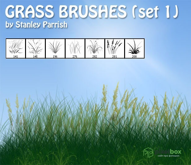 42 кисти Травы для фотошопа