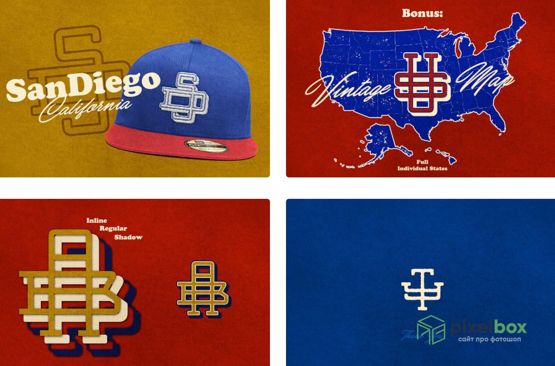 Коллекция шрифтов для логотипов и монограмм