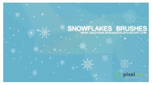 156 кистей снежинок для Photoshop