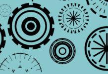 180 векторных фигур кругов для Photoshop