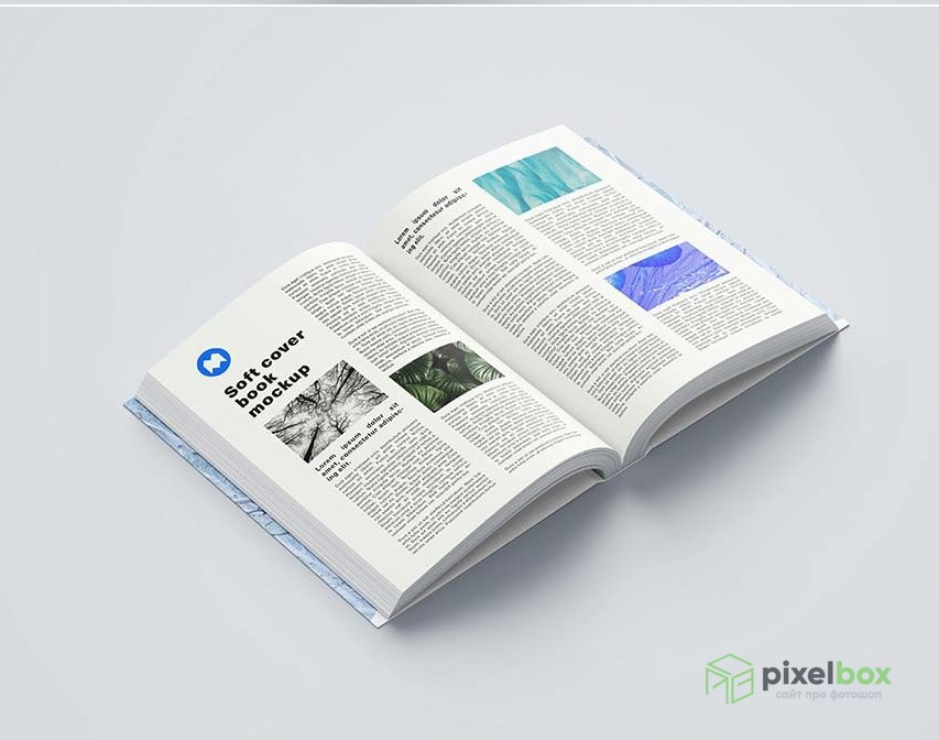 PSD-шаблоны книг и обложек