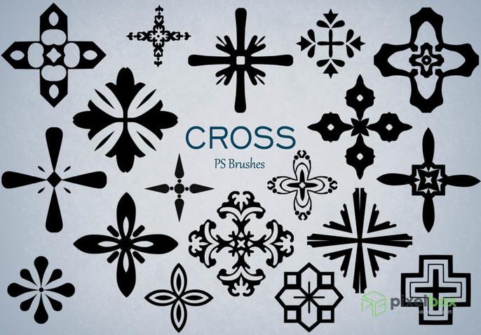 Коллекция кистей крестиков для Photoshop