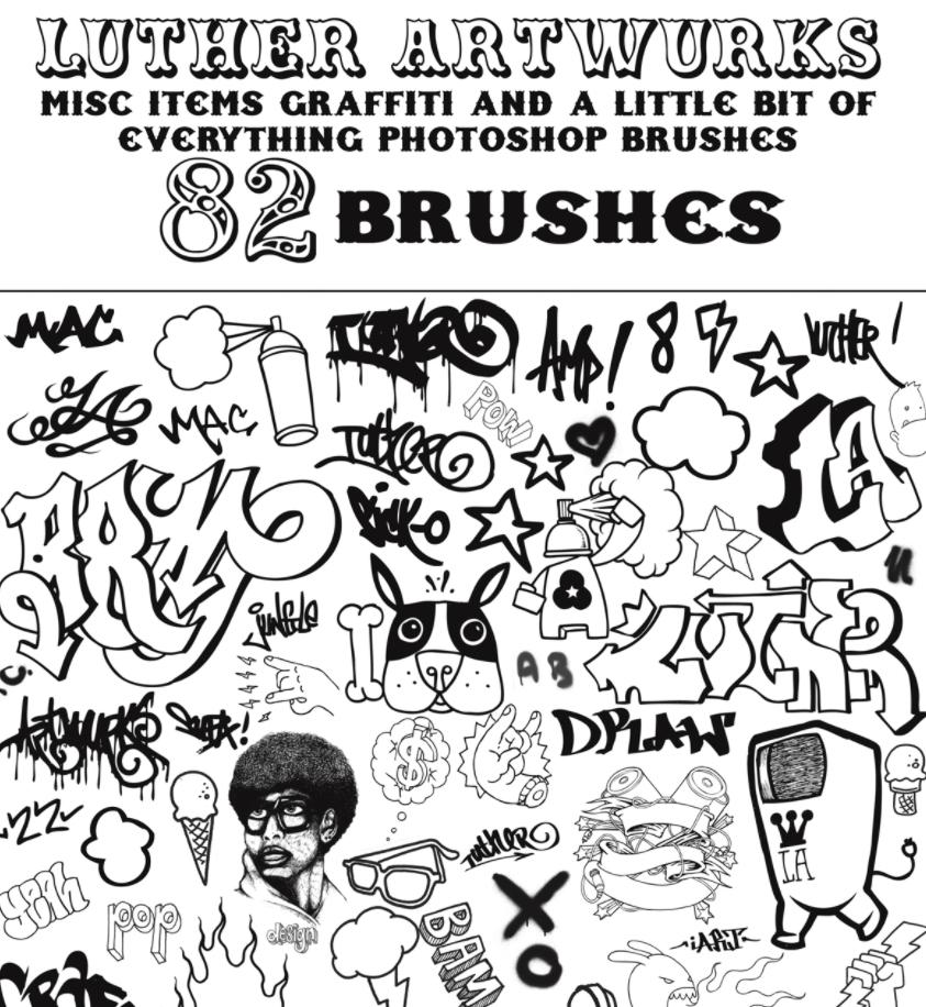 283 кисти граффити для Photoshop