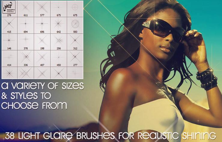 170 кистей для блеска кожи и макияжа Photoshop