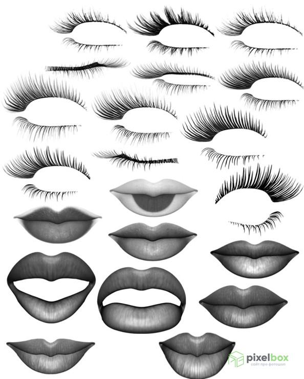 Удивительные кисти губ для Photoshop