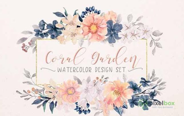Коллекция 233 клипартов Цветов для Photoshop и не только