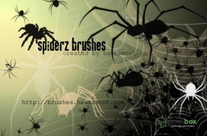 215 кистей на Хеллоуин для Photoshop и Illustrator