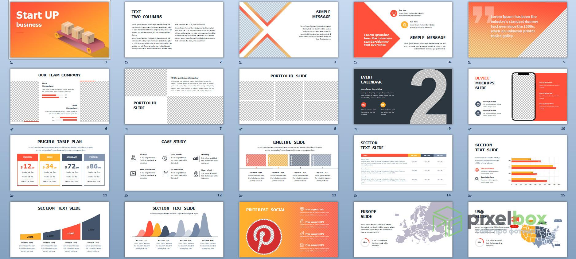 5 шаблонов и 100+ слайдов бизнес презентаций для PowerPoint