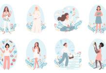 Коллекции из 44 клипартов с девушками
