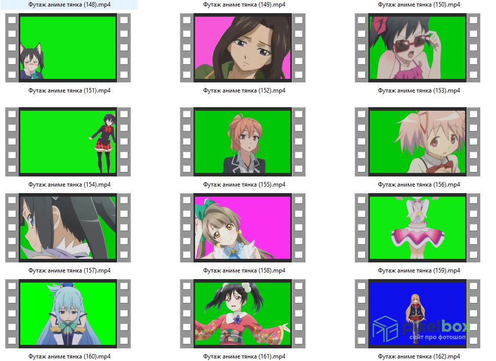 500+ футажей Аниме для работы с видео в Photoshop и не только