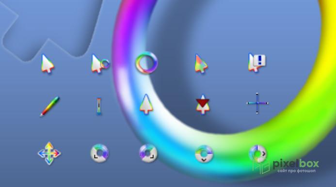 Коллекция радужных курсоров для Windows