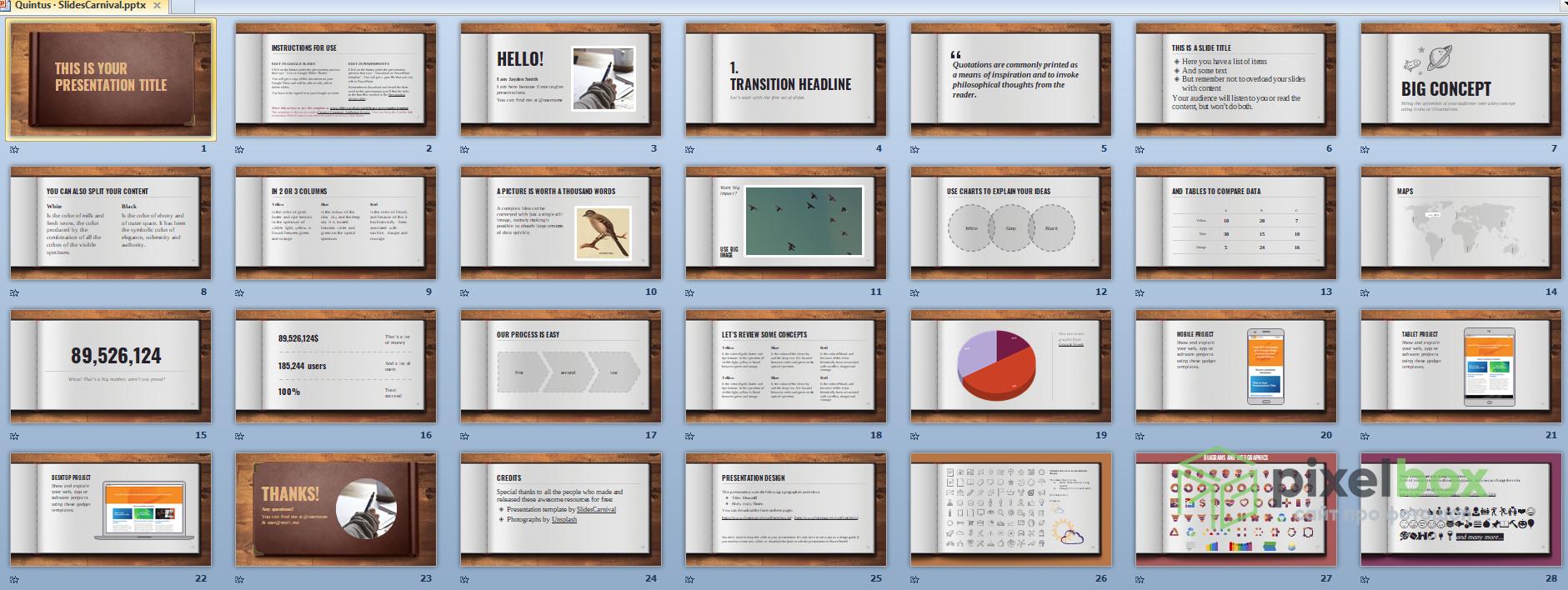 Информативные и большие презентации Книга для PowerPoint