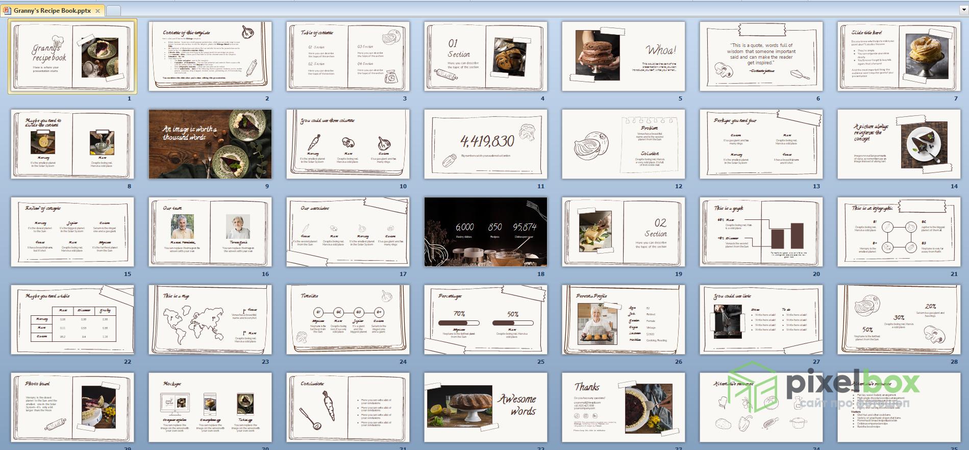 Информативные и большие шаблоны презентации Книга для PowerPoint