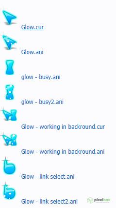 Наборы синих и голубых курсоров для Windows