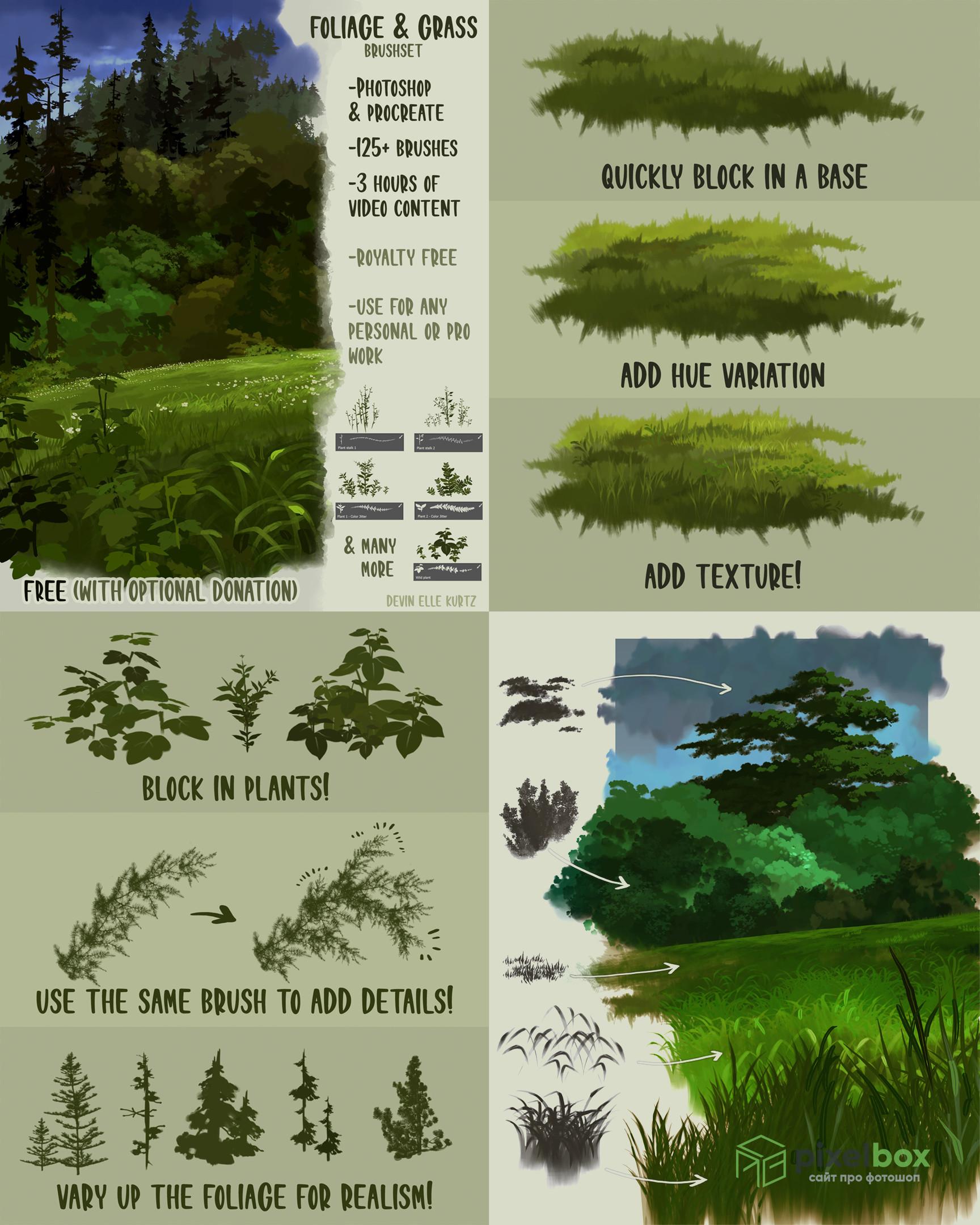 220+ кистей аниме для Photoshop и Procreate