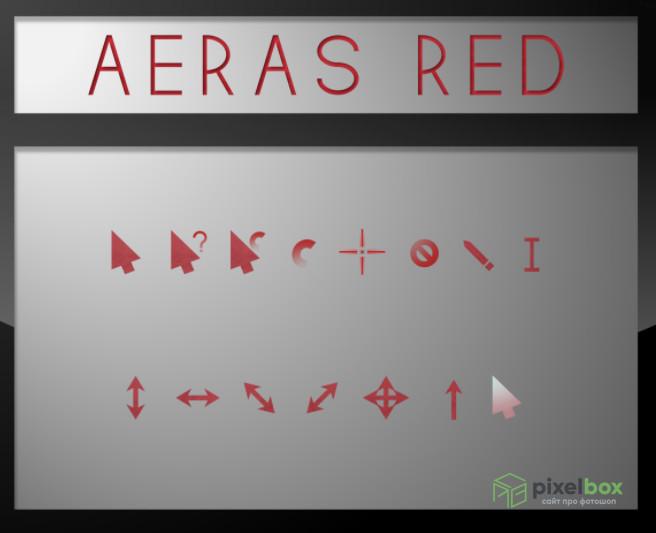 Коллекции красных курсоров для Windows