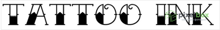 Коллекция декоративных шрифтов Тату