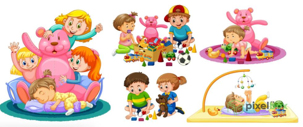 Подборка клипарта (clipart) на тему Дети