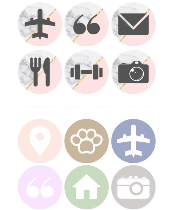 190+ иконок для магазина Instagram