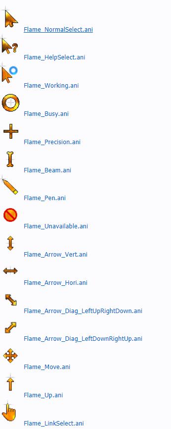 Горящие анимированные курсоры для Windows