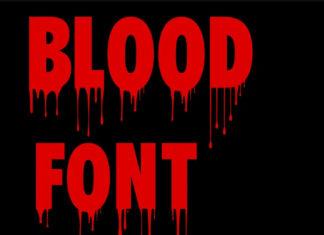 Коллекция кровавых шрифтов с поддержкой кириллицы