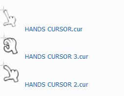 Коллекция курсоров Рука для Windows